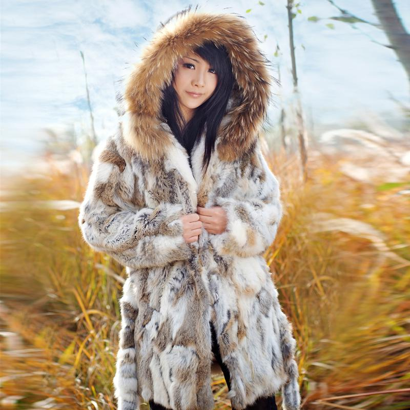 2017 2013 New Fashion Fur Coats Winter Long Ponchos Overcoat ...