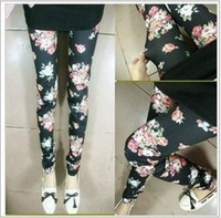 Skinny,Slim apricot jeans - Style Imiation Rose Leggings For Women Jeans Lady Tights Material Black Apricot Pants