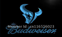 Wholesale LD295 TM Houston Texans Budweiser Bar NR Neon Light Signs Advertising
