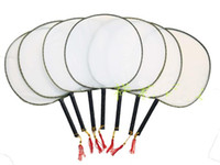 big lots paint - Big Blank White Silk Palace Fans DIY Birthday Party Handles Hand Fan Hand Painting Fine Art Programs