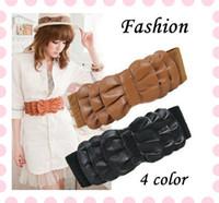 Wholesale Fashion Lady Falbala Multilayer Bowknot Wide Waist Belt Waistband Buckle Elastic NEW