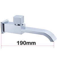 Wholesale Square brass longer mop pool tap mm single cold bibcock SC003