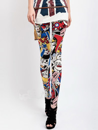 Wholesale Fashion Women Cartoon Girl Leggings New Spring Size S M L Stretchy Tights Pants