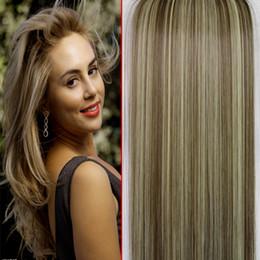 Descuento resistente para el cabello de calor Derecho Clip en extensiones de cabello largo 7pcs / 130g / 20
