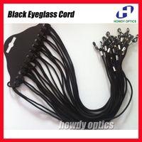 GC-B glasses reading - 12pcs dozen black eyewear nylon cord reading glasses neck strap eyeglasses holder