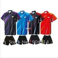 Wholesale FEDEX Free New Butterfly Men Table Tennis Polo Shirt Shorts