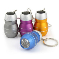 Wholesale Mini Bright White LED Camping Emergency Light Torch Keyring Keychain