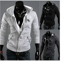 Wholesale Hot Sale Long Sleeve Brushed Napping With Hood Men s Hoodies Black Grey Cardigan Sweatshirt Promoti