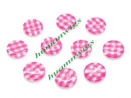Wholesale 300pcs Rose Red Gingham Holes Resin Sewing Buttons Scrapbooking mm Knopf Button LZD0052