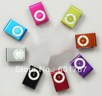 mp3 2gb clip al por mayor-100pcs MINI Reproductor de mp3 Clip con TF tarjeta de apoyo de 1GB 2GB 4GB 8GB Micro SD TF Reproductor mp3