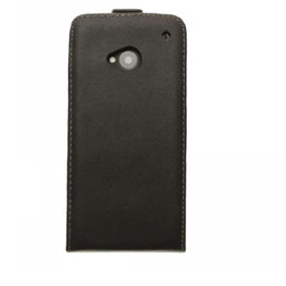 HTC One M7 Genuine Leather Flip Case Real Leather Case free shipping