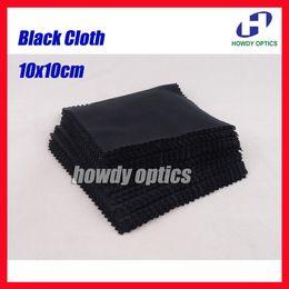 Wholesale Black x10cm Sunglass Lens Phone MP4 MP5 Small Size Eyeglasses Microfiber cleaning cloth