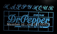 Wholesale LA652 TM Dr Pepper Drink Happy Hour Bar Neon Light Sign Advertising