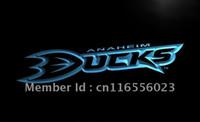 anaheim - LD076 TM Anaheim mighty ducks Pub Bar Neon Light Sign Advertising