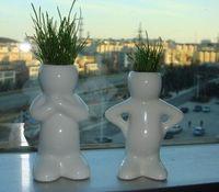 Wholesale 4 Creative Gift Plant Hair man Plant Bonsai Grass Doll Office Mini Plant Fantastic Home Decor pot