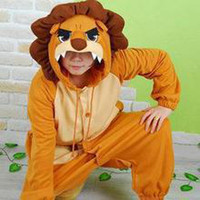 Unisex Animal Easter Wholesale Price -- New Kigurumi Pajamas Anime Lion Cosplay Costume unisex Adult Onesie Hot Dress