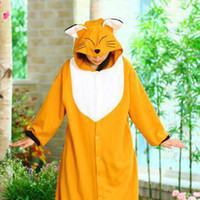 Wholesale New Kigurumi Pajamas Anime Fox Cosplay Costume unisex Adult Onesie Hot Dress