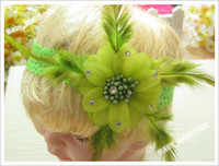 Wholesale 8pcs Color Hair Accessories for Baby Girl s Hair Flower headband Kid s Headwear Hair Sets