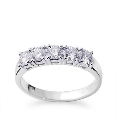 2017 18k white gold real diamond wedding rings for women certified 075ct round cut si g h good high quality factory price wholesalextr1035 from ztliu - Real Diamond Wedding Rings