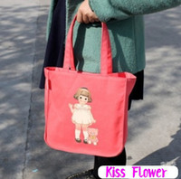 Wholesale New Kawaii paper doll series hand bag girl hand bag lunch tote Shopping bag