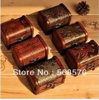 wooden jewelry box - Vintage style wooden jewelry box storage box style FreeShipping
