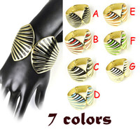 Wholesale casting alloy bangle with enamel painting in shell style colores BR