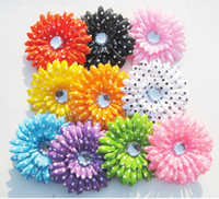 Blending baby brooches - bouquet corsage cloth daisy flowers headdress baby children brooch headdress