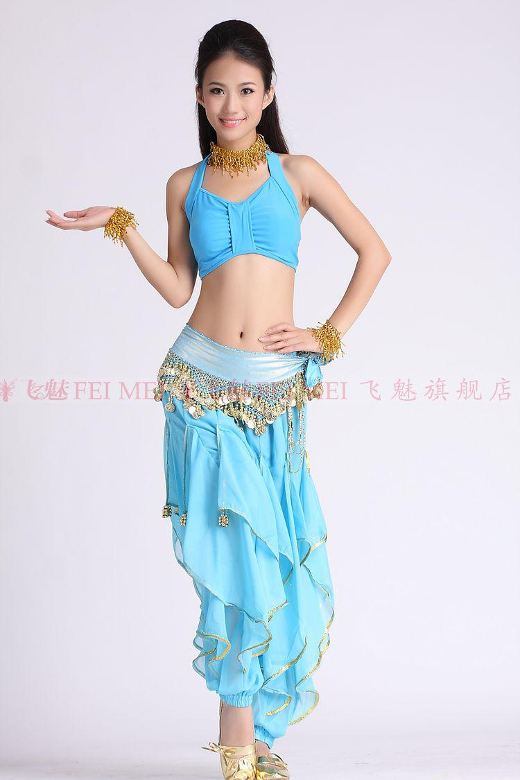 Free shipping ventre belly dance dress clothing set two pcs