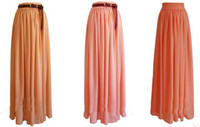 2013 Fashion Skirts 18 colors Chiffon long skirts Women's sk...