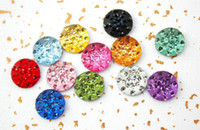 Wholesale Diamond Home Button Sticker for Apple iPod Touch iTouch iPhone g g s g iPad ipad retail