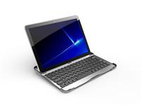 Wholesale Ultrathin Aluminium Wireless Bluetooth Keyboard for Samsung Galaxy Tab inch P7500 P7510 tablet pc