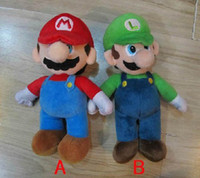 Wholesale NEW Arrival SUPER MARIO Bros quot PLUSH MARIO LUIGI PLUSH DOLLS Toys