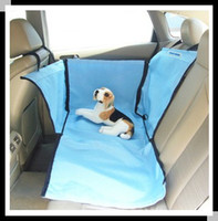 Wholesale Nice Dog Car Rear Back Seat Cover Pet car Mat dog mats Cushion Protector blue