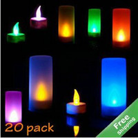 Wholesale LED Blow On Off Candle LED Light Candle Lights Lamps Cup