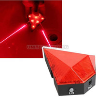 Wholesale Electric LED Bicycle Bike Lights Laser Tail Lights Warning Indicator