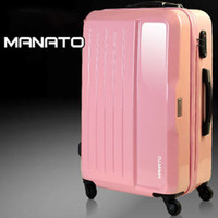 Wholesale Pull rod box suitcase suitcase suitcase boarding box ABS PC pink