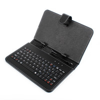 Wholesale USB Keyboard amp Leather Cover Case Bag for inch Tablet PC A13 Q88 Action DHL Shipping