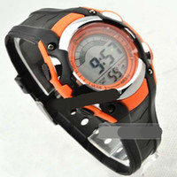 Wholesale Outdoor Sport Alarm clock multi function Watch PU Bands Colorful Retro Mens Watch