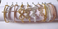 Wholesale 10PCS CHARM Cross Infinity Bar Beads Sideways Connector Bracelets Metal Beaded Jewelry