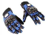 Wholesale New Motorcycle Racing Riding Protective Gloves Black Red Blue color can choose