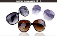 Wholesale Retro fashion stars big frame frog mirror women sunglasses glasses free dhl