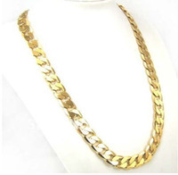 Wholesale Factory Price inch mm K GP Yellow Gold Plated Men Chain Necklace African Classic Jewelry