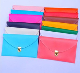 Women PU Envelope Clutch Chain Purse Leather Hand Bags Shoulder Tote Bag Candy Color Messenger bags