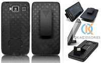 Wholesale Hard Plastic Dual Case combo holster with Rotatable Clip for Motorola XT926 weave