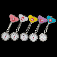 Wholesale Promotional Gift Mickey Nurse Watches Quatz candy color Watches Colorful Random pocket watches DHL best2011
