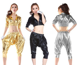 Wholesale 90 hip hop DS costumes hip hop retro dance clothes HIP HOP Harlan wind bar costumes
