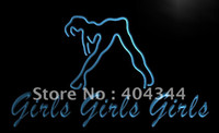 Wholesale LB767 TM Girls Night Club Bar Beer Wine Neon Light Sign Advertising led panel