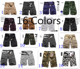 Wholesale New high quality Men s Belt Short Pants Summer Casual Flat Shorts Colors Any size All Fits