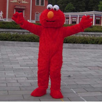 Costume de mascotte Elmo rouge Costumes d'Halloween Chirstmas Party Taille adulte Fantaisie