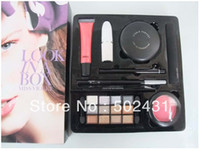 Wholesale Top quality Makeup kit Brand cosmetics make up cosmetics look in a box set powder amp lipstick amp